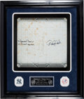 Baseball Collectibles:Others, 2013 Derek Jeter & Mariano Rivera Signed Game Used Base....