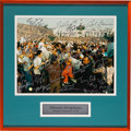 Football Collectibles:Photos, 1972 Miami Dolphins Team Signed Photograph....