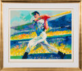 "Baseball Collectibles:Others, 1998 ""The DiMaggio Cut"" Signed Leroy Neiman Artist's Proof Serigraph. ..."