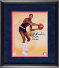 Basketball Collectibles:Photos, 1990's Wilt Chamberlain Signed Large Photograph....