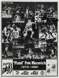 Basketball Collectibles:Others, 1980 Pete Maravich Inscribed & Signed Poster....
