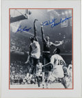 Basketball Collectibles:Photos, 1990's Wilt Chamberlain & Bill Russell Signed Photograph.. ...
