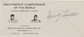 Boxing Collectibles:Autographs, 1965 Sonny Liston Signed Promotional Envelope for Ali Fight. ...