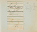 Baseball Collectibles:Others, 1930's Lou Gehrig & Red Ruffing Signed Autograph Album....