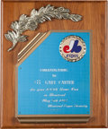 Baseball Collectibles:Others, 1992 Gary Carter 100th Home Run in Montreal Award from The GaryCarter Collection. ...
