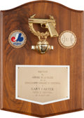Baseball Collectibles:Others, 1975 Gary Carter Montreal Police Presentational Plaque from TheGary Carter Collection....