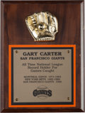 Baseball Collectibles:Others, 1990 Gary Carter All Time Record For Games Caught Award from TheGary Carter Collection. ...