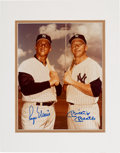 Baseball Collectibles:Others, Circa 1980 Roger Maris & Mickey Mantle Signed PhotographPSA/DNA Gem Mint 10, from The Gary Carter Collection....