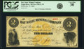 Obsoletes By State:Michigan, Eagle River, MI - Bay State Mining Company $2 Oct. 27, 1866 Lee CMGC-3-9. PCGS Very Fine 30.. ...