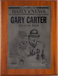 "Baseball Collectibles:Others, 1985 Gary Carter ""Met of the Month"" Award from The Gary Carter Collection.. ..."