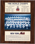 Baseball Collectibles:Others, 1986 Gary Carter New York Mets World Champs Plaque from The GaryCarter Collection....