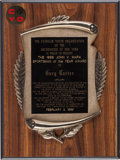 Baseball Collectibles:Others, 1988 Gary Carter John V. Mara Sportsman of the Year Award from TheGary Carter Collection. ...