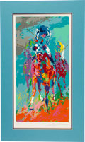 "Miscellaneous Collectibles:General, 1990 ""Secretariat II"" Serigraph Signed by Leroy Neiman...."