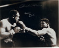 """Boxing Collectibles:Autographs, Muhammad Ali """"AKA Cassius Clay"""" and Archie Moore Signed OversizedPhotograph...."""