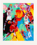 """Basketball Collectibles:Others, 1991 """"Michael Jordan"""" Serigraph (AP 41/50) Signed by LeroyNeiman. ..."""