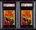 "Non-Sport Cards:Unopened Packs/Display Boxes, 1966 O-Pee-Chee ""Rat Patrol"" PSA Graded Packs (2). ..."