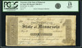 Obsoletes By State:Minnesota, St. Paul, MN - Treasurer of the State of Minnesota $1 Feb. 10, 1858Hewitt C400-D1-1. PCGS Fine 15 Apparent.. ...