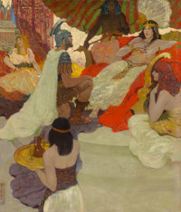 George Giguere (American, 20th Century) Anthony Visiting Cleopatra, 1924 Oil on canvas 35.25 x 29