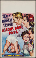 "Movie Posters:Comedy, Father's Little Dividend (MGM, 1951). Belgian (13.75"" X 22.25""). Comedy.. ..."
