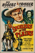 "Movie Posters:Western, Spoilers of the Plains (Republic, 1951). One Sheet (27"" X 41""). Western.. ..."