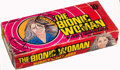 """Non-Sport Cards:Unopened Packs/Display Boxes, 1976 Donruss """"Bionic Woman"""" Wax Box With 24 Unopened Packs. ..."""