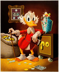 Memorabilia:Disney, Carl Barks The Money Lender Signed Limited Edition Stone Lithograph Print #168/200 (Another Rainbow, 1983/1997)...