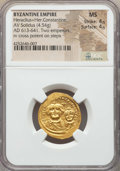 Ancients:Byzantine, Ancients: Heraclius (AD 610-641), with Heraclius Constantine. AVsolidus (4.54 gm)...