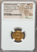 Ancients:Byzantine, Ancients: Constans II (AD 641-668). AV tremissis (1.49 gm). NGC MS5/5 - 4/5....