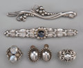 Silver Smalls:Other , A Group of Six-Pieces of Georg Jensen Silver and Moonstone JewelryItems, Copenhagen, Denmark, circa 1933-1944 & post-1945. ...(Total: 6 Items)
