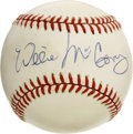 "Autographs:Baseballs, Willie McCovey Single Signed Baseball. Always imposing with thelumber, ""Stretch"" McCovey was hailed as one of the most-fea..."