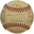 Autographs:Baseballs, 1980 Oakland Athletics Team Signed Baseball. Billy Martin's 1980Oakland Athletics are represented here by this collection ...