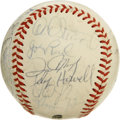 Autographs:Baseballs, 1987 Oakland Athletics Team Signed Baseball. On the strength of theAL ROY winners from that year as well as the year befor...
