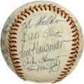 Autographs:Baseballs, 1975 Milwaukee Brewers Team Signed Baseball. A 41-year-old HankAaron enjoyed his penultimate season in the bigs as a memb...