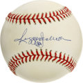 Autographs:Baseballs, Reggie Jackson Single Signed Baseball. Mr. October has provided uswith an exceptional sweet spot sig on the surface of thi...