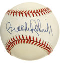 Autographs:Baseballs, Brooks Robinson Single Signed Baseball. OAL (Brown) orb that wepresent here has been signed by the Human Vacuum Cleaner hi...