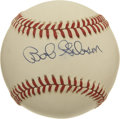 Autographs:Baseballs, Bob Gibson Single Signed Baseball. NL batters had their work cutout for them each time they stepped into the box against t...
