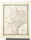 Western Expansion, 1858 Colton Map of Texas...