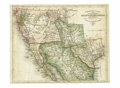 Western Expansion, 1852 German Map of Texas, California, New Mexico, and Utah...