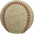 Autographs:Baseballs, Pete Rose and Rollie Fingers Single Signed Baseballs Lot of 2. Apair of single signed baseballs from two former stars of t...