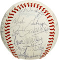 Autographs:Baseballs, 1984 Kansas City Royals Team Signed Baseball. The 27 signatures onthe surface of the provided OAL (MacPhail) orb were appl...