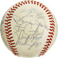 Autographs:Baseballs, 1984 Boston Red Sox Team Signed Baseball. Boston's 1984 Red Soxsquad is represented here by the 24 signatures we provide o...