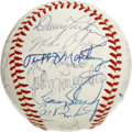 Autographs:Baseballs, 1984 Baltimore Orioles Team Signed Baseball. The 1984 O's are hererepresented by the collection of 28 signatures on the pr...