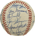Autographs:Baseballs, 1984 Detroit Tigers World Champion Team Signed Baseball. Stunningwhite OAL (MacPhail) orb seen here has been signed by the...