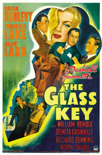 "The Glass Key (Paramount, 1942). One Sheet (27"" X 41"") Style A"