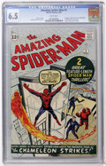 Silver Age (1956-1969):Superhero, The Amazing Spider-Man #1 (Marvel, 1963) CGC FN+ 6.5 Whitepages....