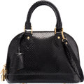 "Luxury Accessories:Bags, Louis Vuitton Black Python Alma BB Bag. Excellent Condition.9.5"" Width x 7.5"" Height x 4"" Depth. ..."