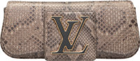 """Louis Vuitton Gray Python Clutch Bag Very Good to Excellent Condition 10"""" Width x 4.5"""" Height x 2"""