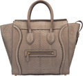 """Luxury Accessories:Bags, Celine Gray Python Mini Luggage Tote Bag. Very GoodCondition. 12"""" Width x 12"""" Height x 7"""" Depth. ..."""