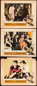 """Movie Posters:Sports, Brown of Harvard (MGM, 1926). Lobby Cards (3) (11"""" X 14""""). Sports.. ... (Total: 3 Items)"""