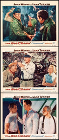 "Movie Posters:War, The Sea Chase (Warner Brothers, 1955). Lobby Cards (3) (11"" X 14"").War.. ... (Total: 3 Items)"
